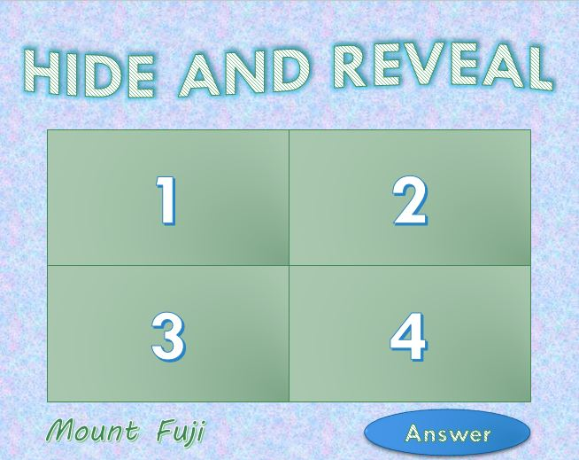 Hide and Reveal game powerpoint template 10