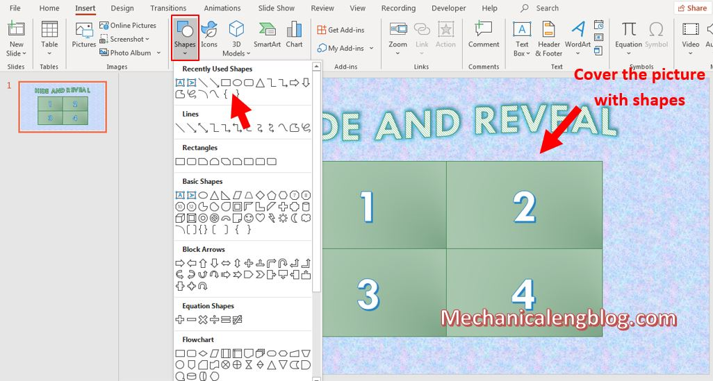 Hide and Reveal game Powerpoint template 2