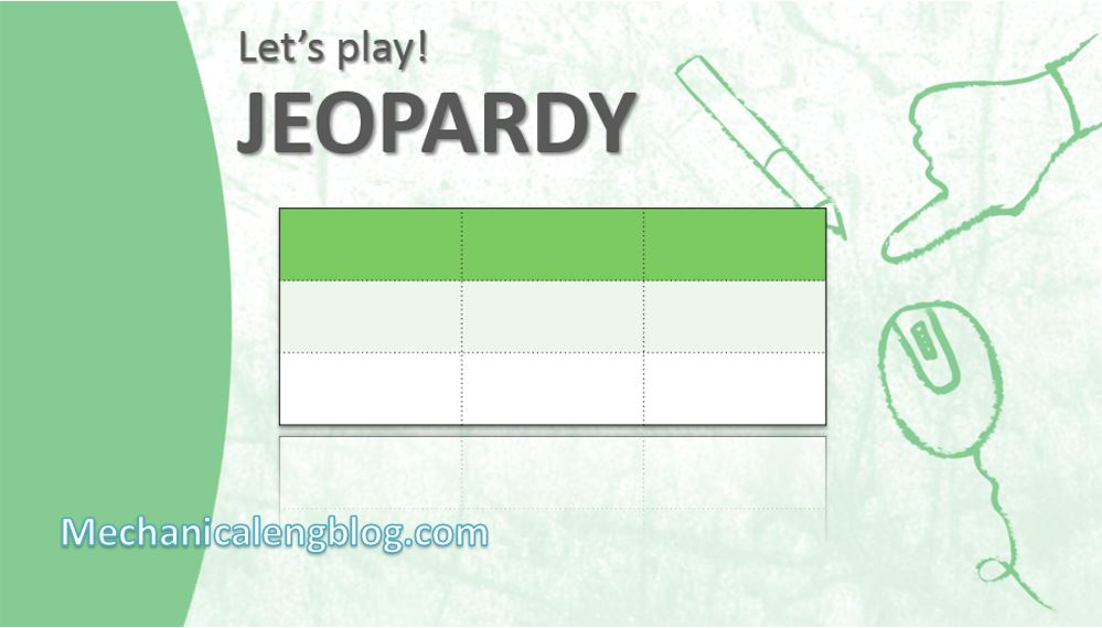 How to make a jeopardy game on Powerpoint 2