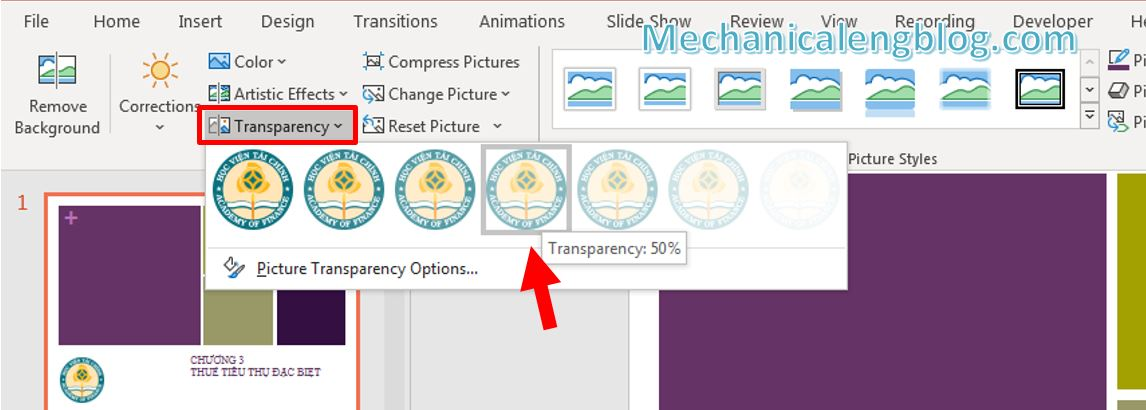 How to add watermark in PowerPoint 3