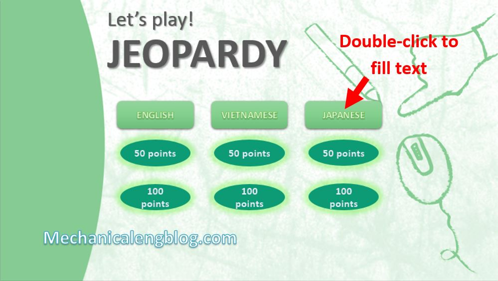 How to make a jeopardy game on Powerpoint 4