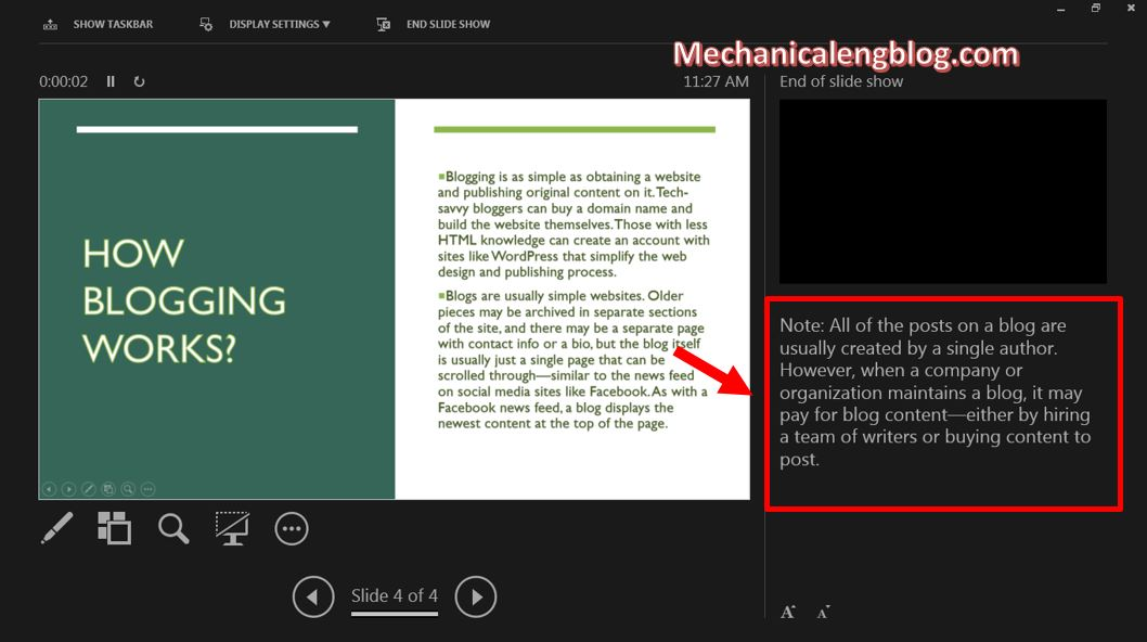 how to add notes to powerpoint 5