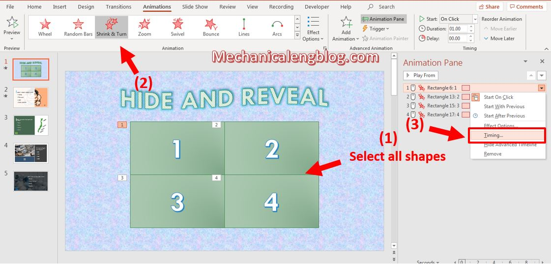 Hide and Reveal game Powerpoint template 6