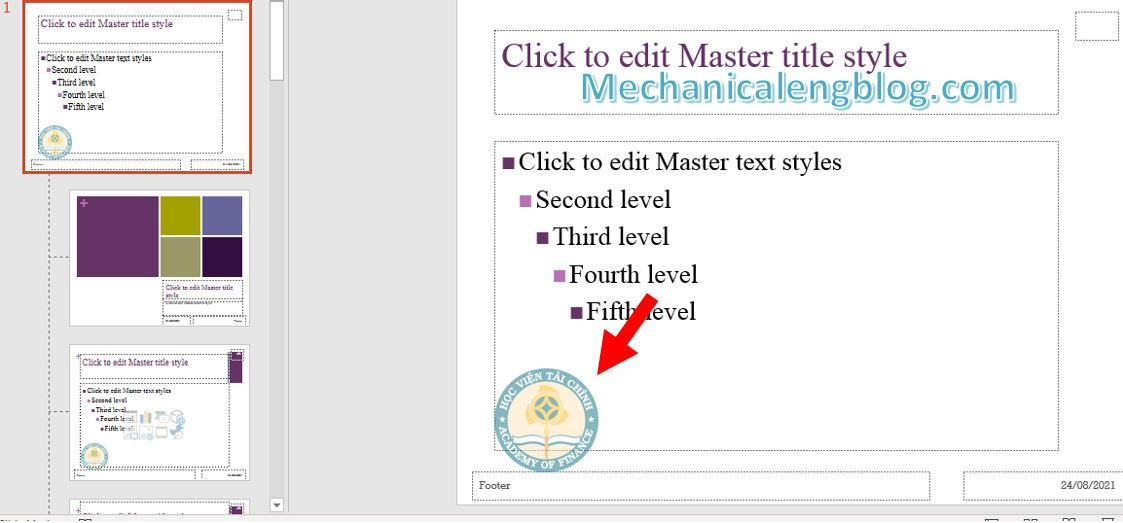 How to add watermark in PowerPoint 7