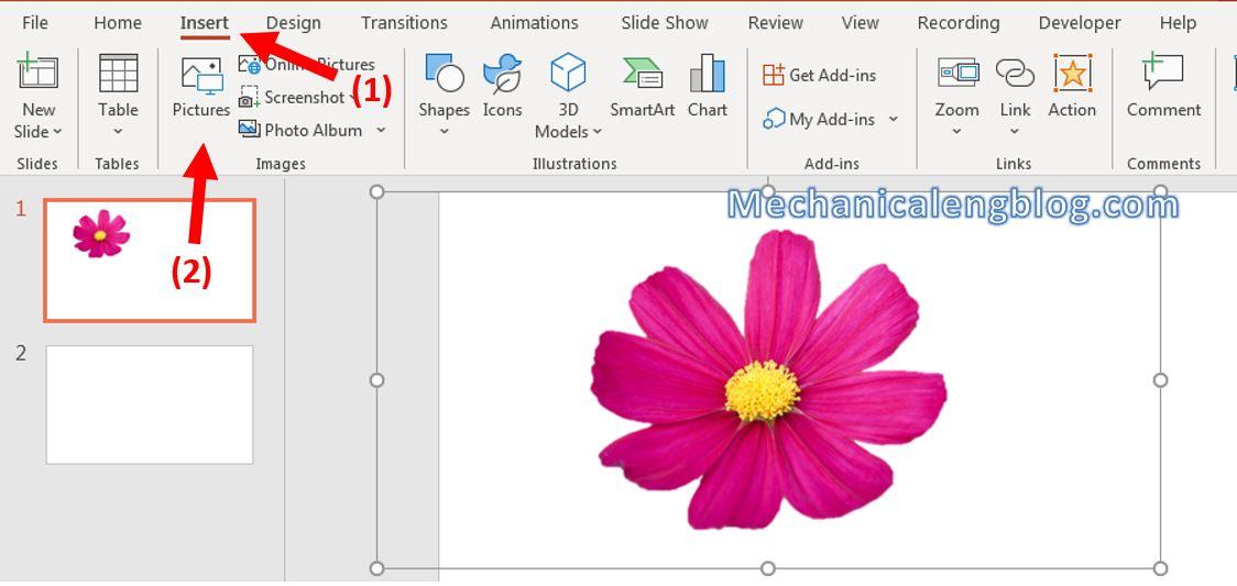 Add shadow effect for object in PowerPoint 1