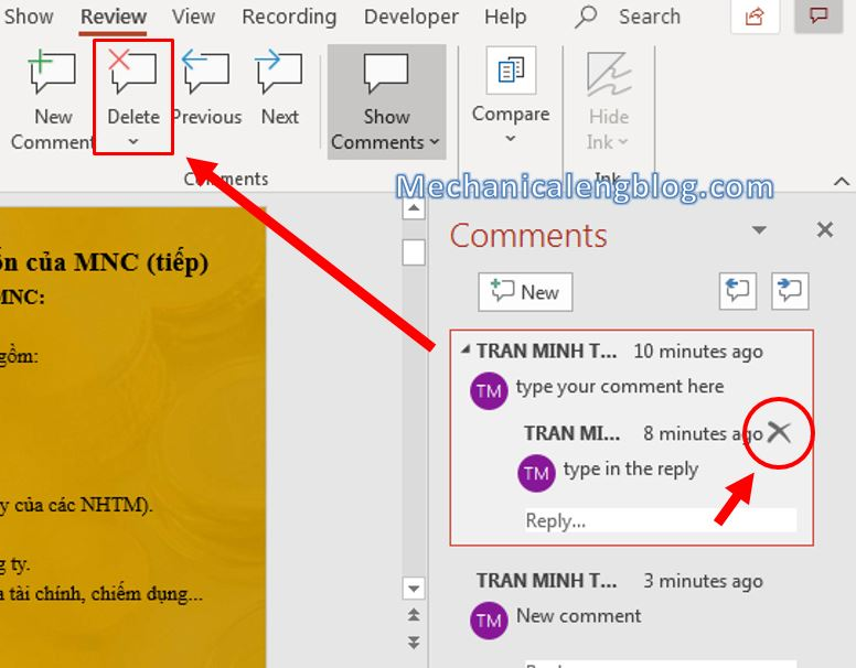 How to add comments in PowerPoint 5