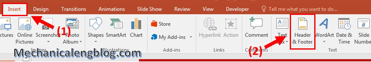 How to add page numbers to powerpoint 1