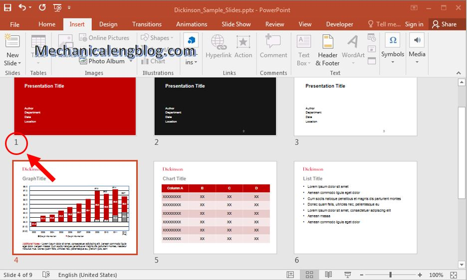 How to add page numbers to powerpoint 3
