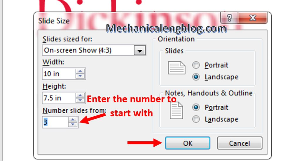 How to add page numbers to powerpoint 6