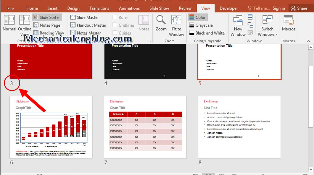 How to add page numbers to powerpoint 7