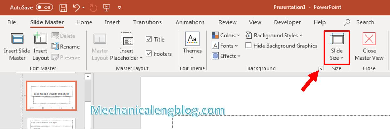 How to change Slide size in PowerPoint 2