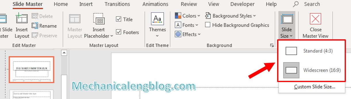 How to change Slide size in PowerPoint 3