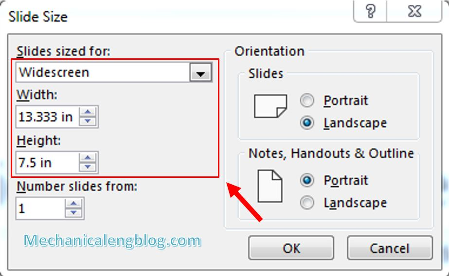 How to change Slide size in PowerPoint 5