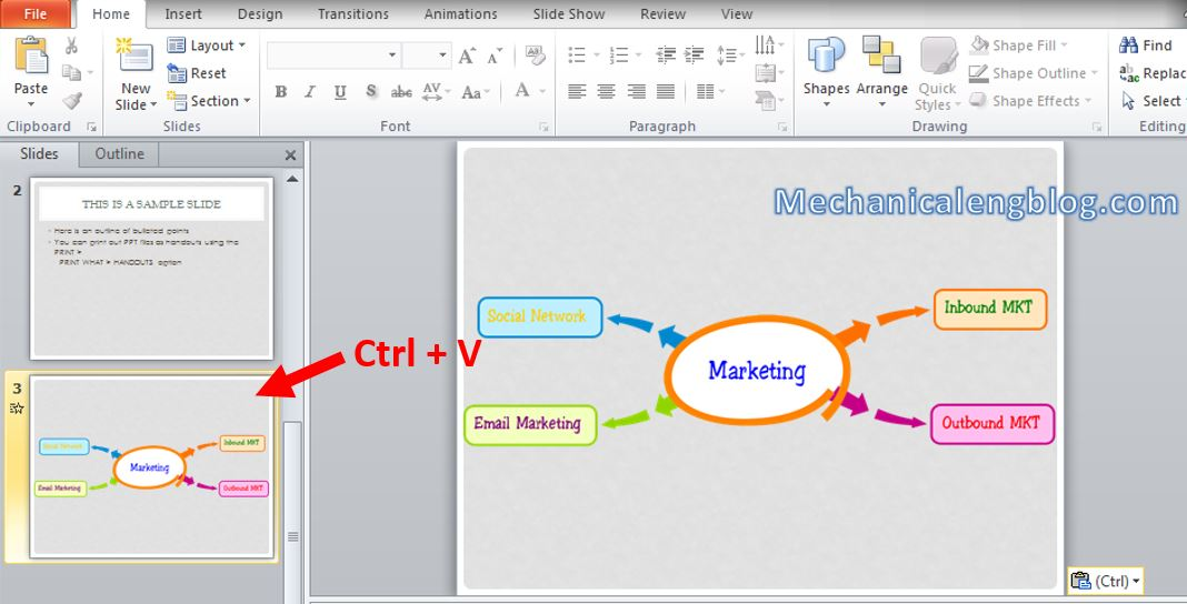 How to create mind map in powerpoint 10