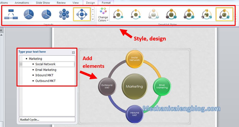 How to create mind map in powerpoint 13