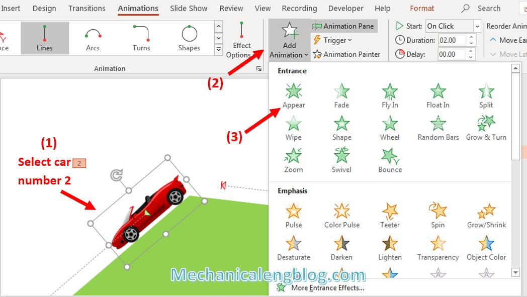 How to create powerpoint motion path 12
