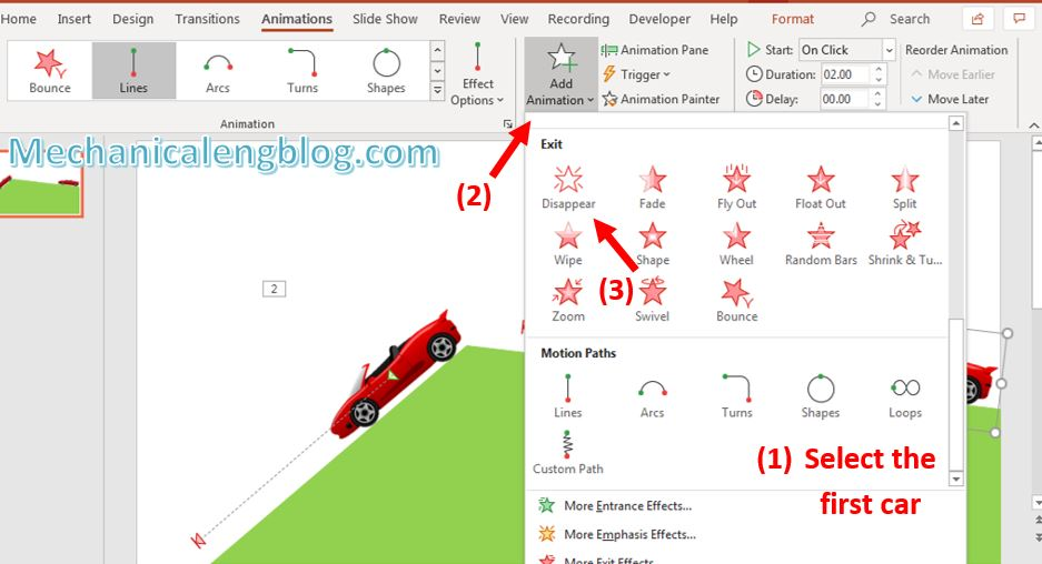 How to create powerpoint motion path 9