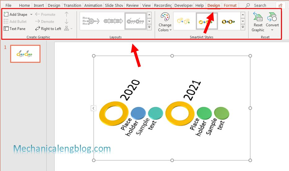 How to create timeline in PowerPoint 5