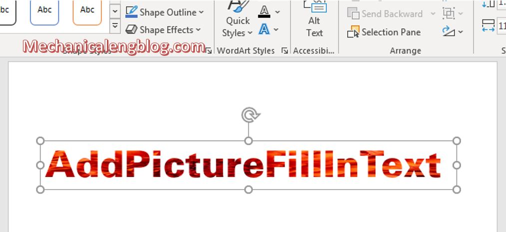 How to fill text with image in powerpoint 5