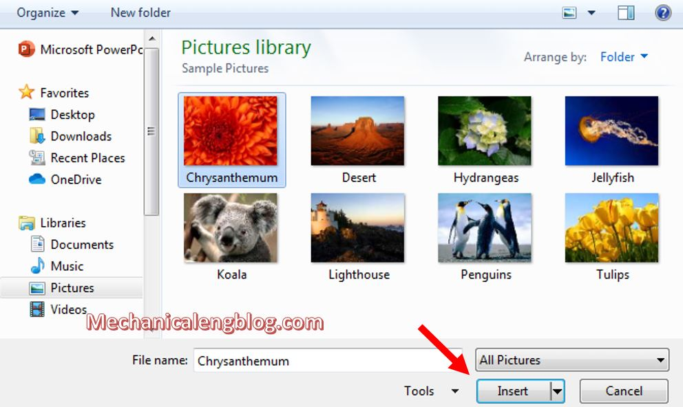 How to fill text with image in powerpoint 6