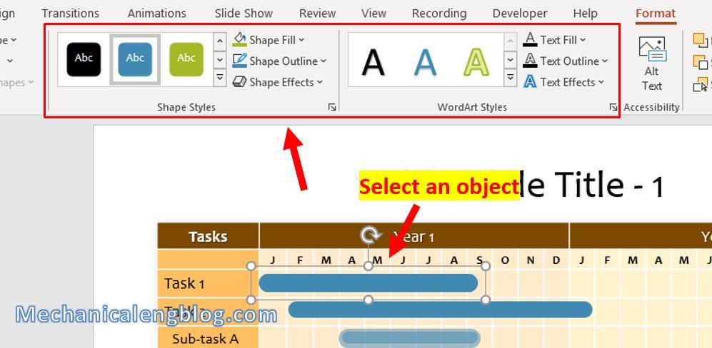 How to make Gantt chart in PowerPoint 5