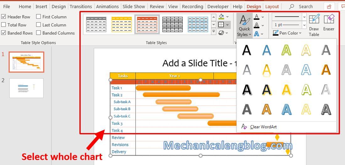 How to make Gantt chart in PowerPoint 6