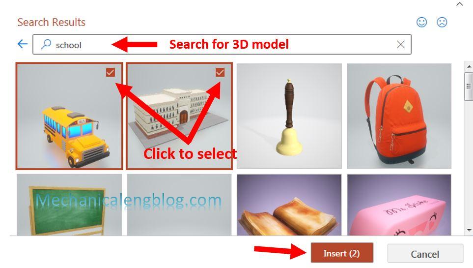 Insert 3D model in PowerPoint 3