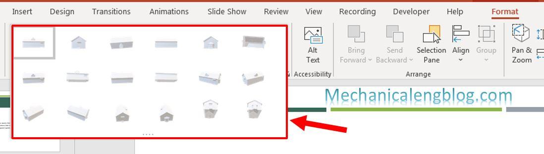 Insert 3D model in PowerPoint 5