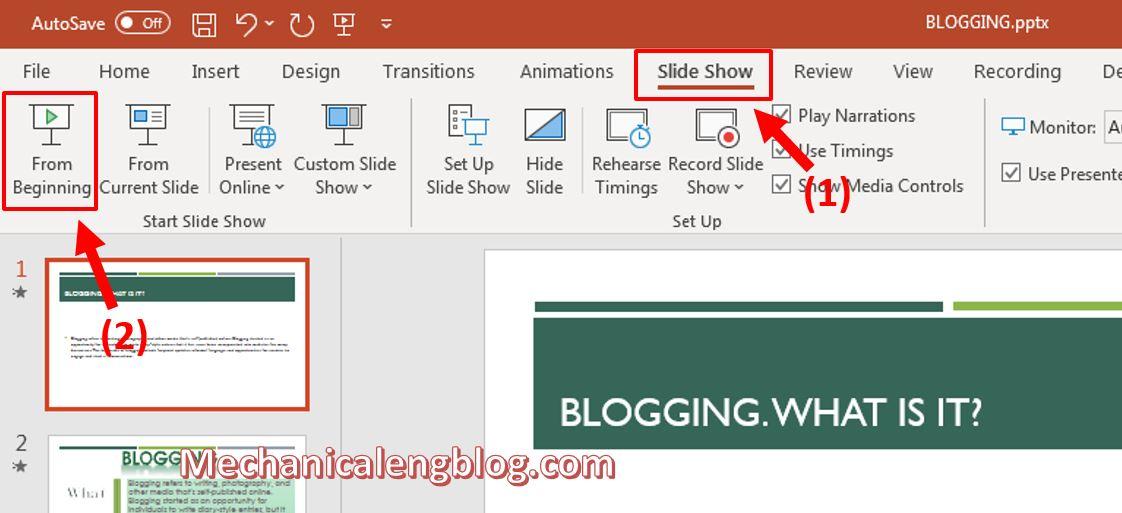 create a self-running PowerPoint presentation 4