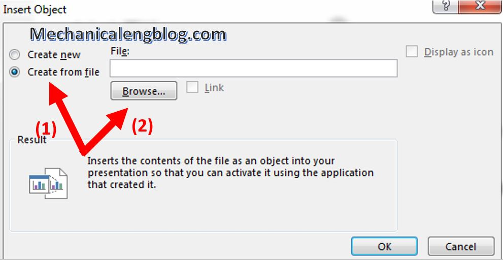 how to attach file in powerpoint 2