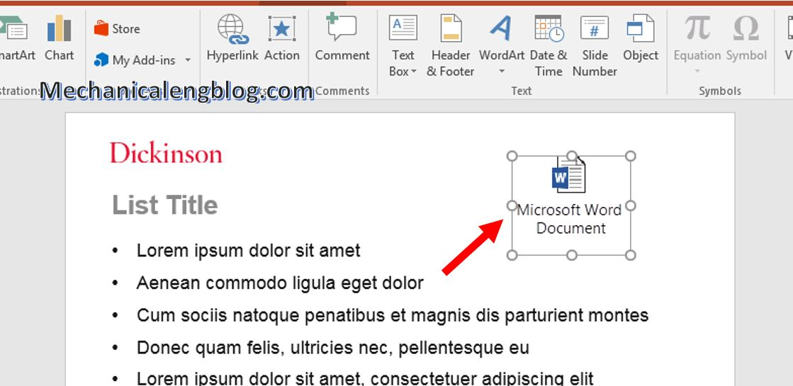 how to attach file in powerpoint 7