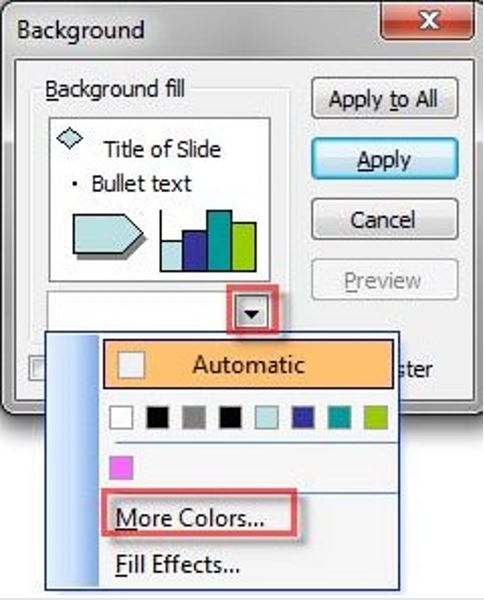 how to change background color in powerpoint 1