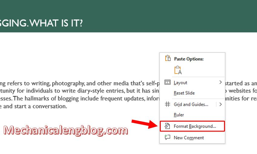how to change background color in powerpoint 3