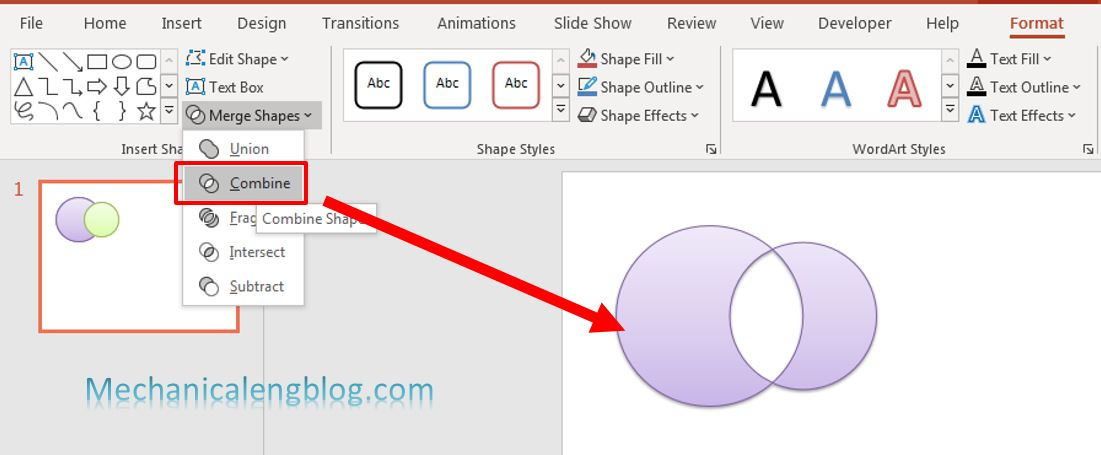 how to merge shapes in powerpoint 3