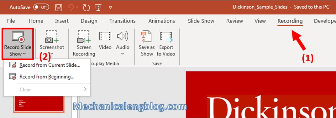 how to record a powerpoint presentation 2